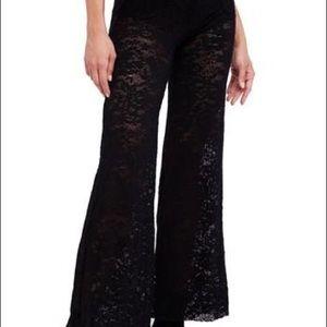 FREE PEOPLE Wide leg lace pants